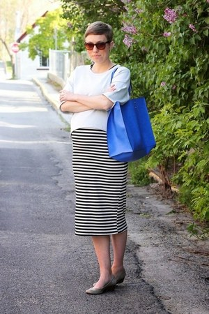 TJ Maxx dress - weekday shirt - Zara bag - Nine West wedges