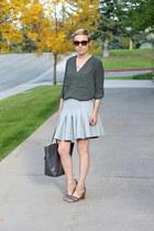 army green H&M shirt - charcoal gray Target bag - heather gray H&M skirt