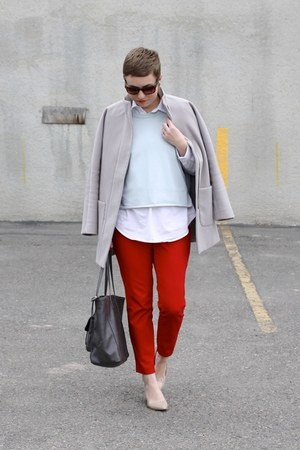Old Navy coat - weekday shirt - Target bag - Nine West heels - Old Navy pants