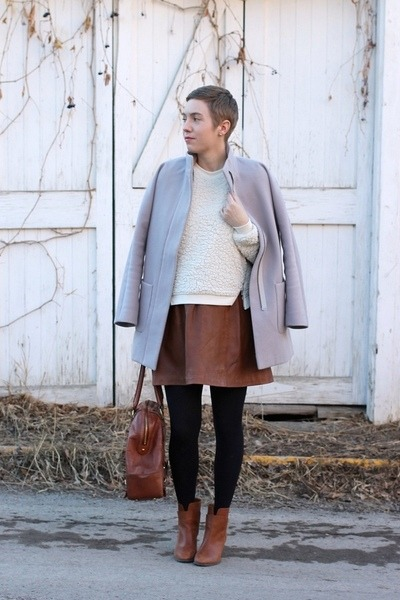 Nine West boots - Old Navy coat - TJ Maxx sweater - banana republic bag