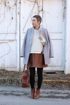 Nine West boots - Old Navy coat - TJ Maxx sweater - banana republic bag