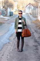 DSW boots - Gap coat - Old Navy shirt