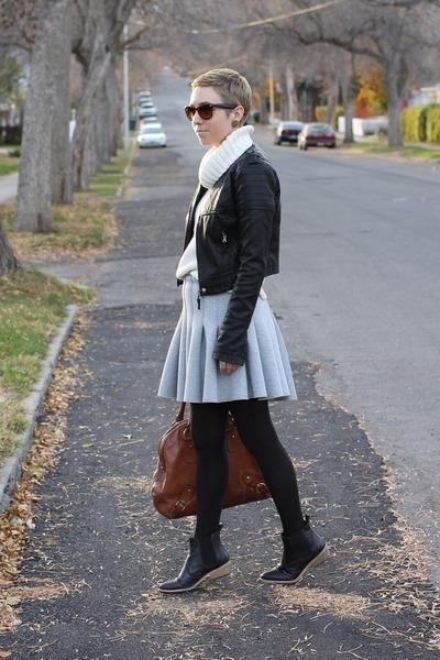 Gap boots - Target jacket - Gap sweater - H&M skirt