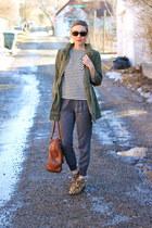 sam edelman boots - H&M jacket - Target shirt - banana republic bag