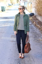 DSW shoes - Gap jacket - Target shirt - banana republic bag - Old Navy pants