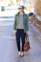 DSW shoes - Gap jacket - Target shirt - banana republic bag - Old Navy pants