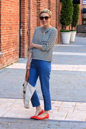 red Old Navy flats - white Target shirt - sky blue Gap pants
