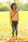 Burnt-orange-goodwill-bag-mustard-china-boots-light-pink-kohls-sweater