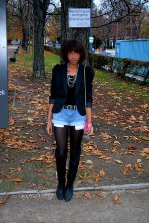boots - blazer - accessories