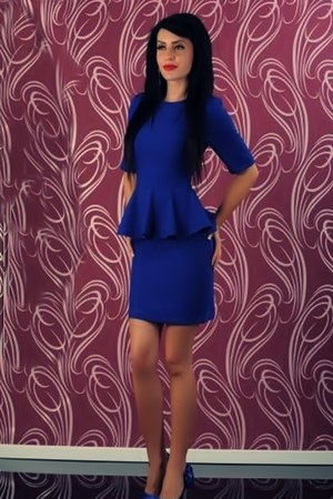 blue H&M dress