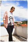 Pink-vero-moda-blazer-gray-asos-shoes-black-zara-pants-danny-roberts-t-shi