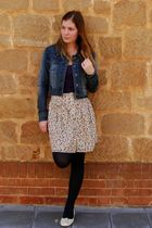 purple dress - beige Valley Girl skirt - blue Valley Girl jacket - blue Myers ti