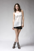 white slogan tank Erin Wasson x RVCA top