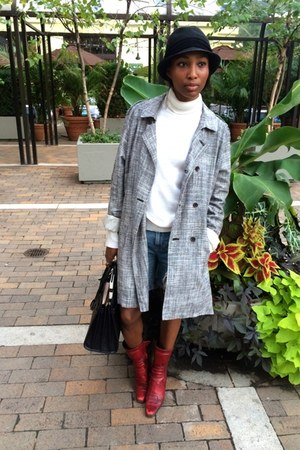 Nordstrom Rack hat - Miu Miu shoes - scotch and soda jacket - Saint Laurent bag
