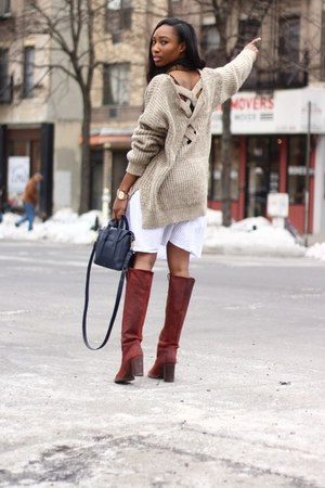 Tobi sweater - Barneys New York boots - LF stores scarf - 31 Phillip Lim bag