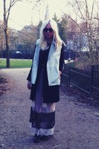 Zara skirt - H&M coat - H&M vest