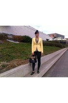 black Zara leggings - light yellow Zara blazer