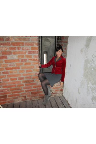 gray sweater dress Amour Italy dress