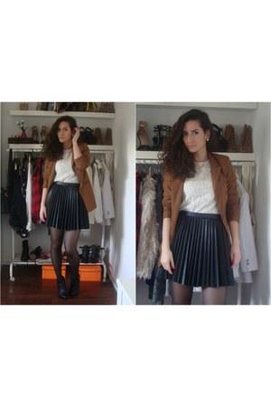 black H&M skirt - tawny Vero Moda blazer