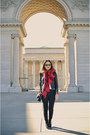 Black-zara-jacket-brick-red-hm-scarf-black-zara-pants