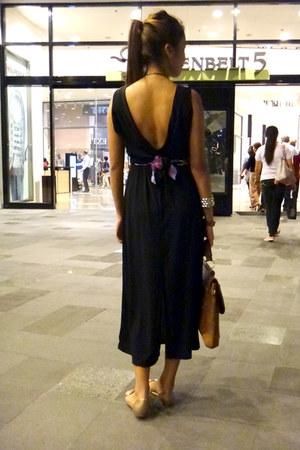 dress - jelly beans belt - jelly flats - collar necklace