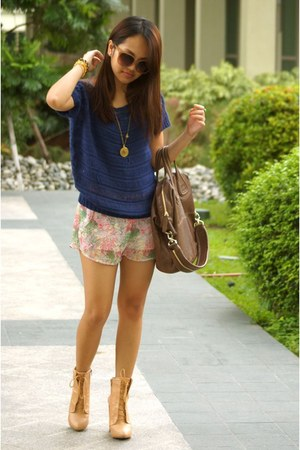 Topshop shorts - asos boots - Givenchy bag