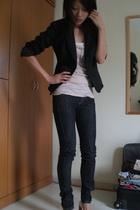 ax blazer - Topshop top - Mango jeans - mondo shoes