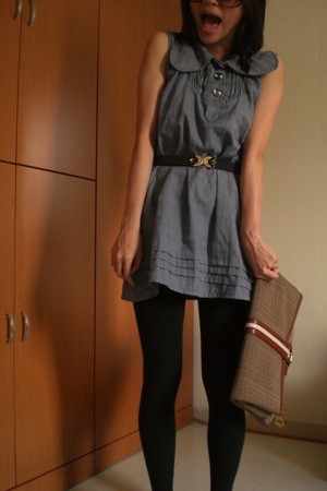Fareast dress - M by MJ purse - Shanghai tights - Aldo shoes