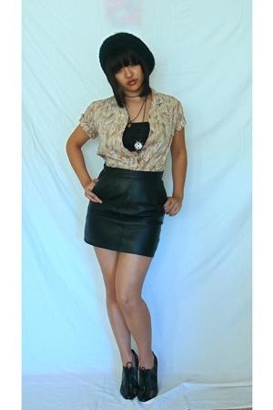 vintage shirt - H&M hat - top - skirt - Steve Madden shoes