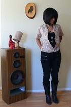 vintage blouse - Urban Outfitters jeans - Vintage from Buffalo shoes