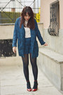 Brown-zara-jacket-navy-asos-blazer-navy-asos-shorts-red-zara-heels