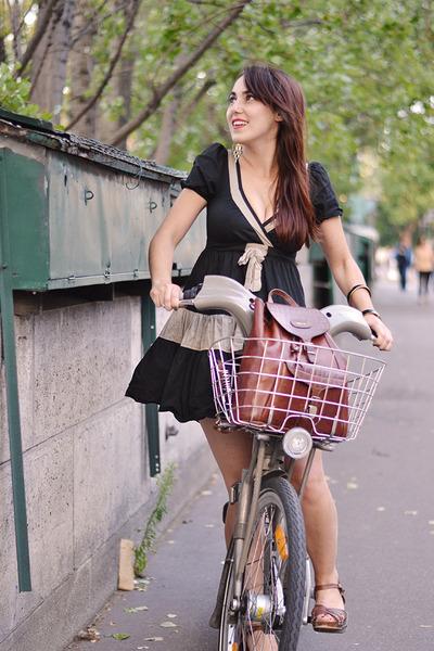 asos dress - leather vintage bag