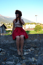 Zara skirt - Stradivarius shoes - Mango romper