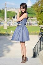 turquoise blue pepa loves dress