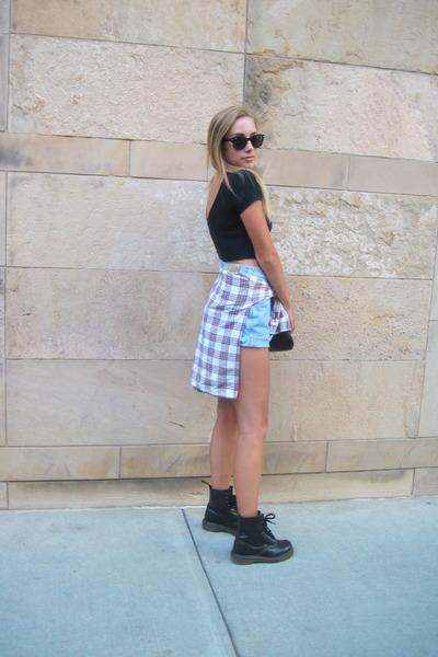Dr Martens boots - brandy melville shirt - Kimchi Blue bag - Ray Ban sunglasses