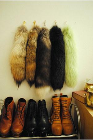 black faux fur unknown accessories - brown faux fur unknown accessories