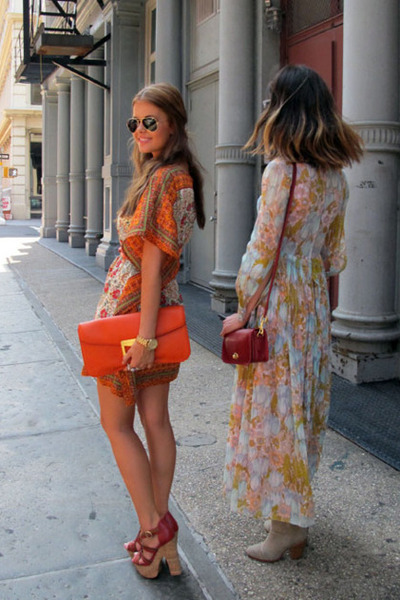White Unknown Dresses, Carrot Orange Clutch Prada Bags, Ruby Red ...