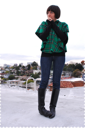green top - black - blue indidenim - black Nine West boots