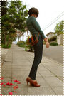 Green-sweater-blue-forever-21-jeans-brown-seychelles-shoes-brown-dooney-an