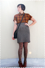 Brown-pendleton-blouse-brown-steven-alan-skirt-brown-stockings-brown-seych