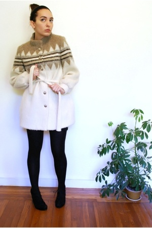 vintage coat - American Apparel skirt - wolford on ebay stockings - Dolce Vita s