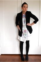 j crew on ebay blazer - thrifted vintage dress - wolford on ebay stockings - ald