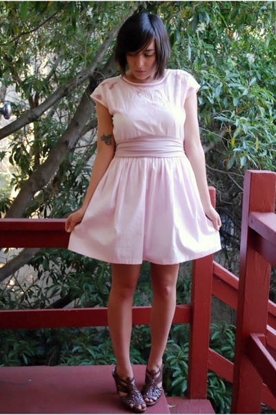 thrifted vintage dress - American Apparel accessories - Star Ling from Nordstrom