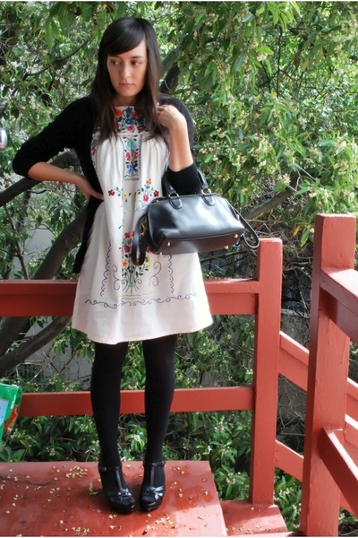 wo sweater - thrifted vintage dress - wolford on ebay stockings - Star Ling shoe