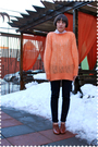 Brown-accessories-brown-jcrew-coat-orange-sweater-white-jcrew-blouse-blu