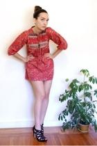 vintage dress - Dolce Vita shoes