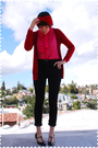Red-accessories-red-zara-cardigan-pink-blouse-black-j-brand-jeans-black-
