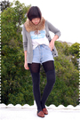 Brown-accessories-gray-jcrew-cardigan-white-t-shirt-blue-levis-shorts-bl