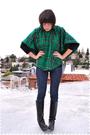 Green-top-black-blue-indidenim-black-nine-west-boots