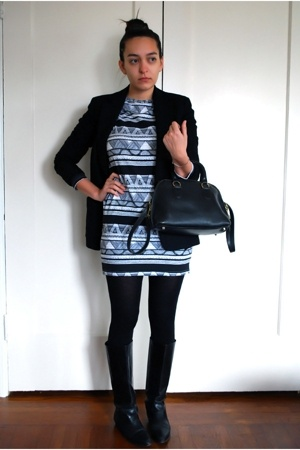 j crew on ebay blazer - American Apparel dress - wolford on ebay stockings - vin